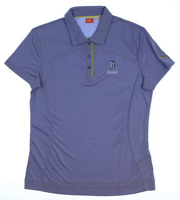 New W/ Logo Womens Puma Tech Polo Large L Persian Violet 562683 10
