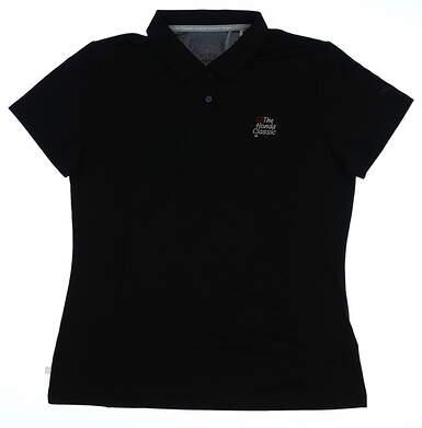 New W/ Logo Womens Puma Pounce Polo Large L Black 570527 01