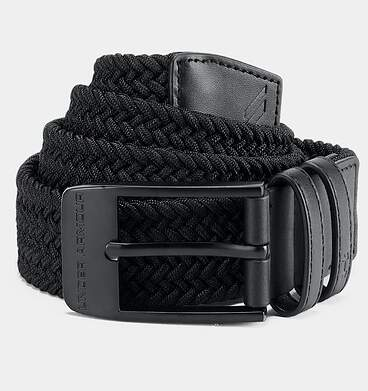 New Mens Under Armour Braided 2.0 Belt Size 36 Black MSRP $40 UA0557