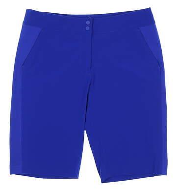 New Womens EP Pro Sport Golf Shorts Size 10 Brillant Blue MSRP $84 9108SEA