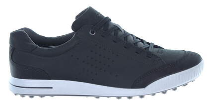 New Mens Golf Shoe Ecco Street Retro 47 (13-13.5) Black MSRP $140