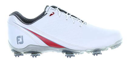 New Mens Golf Shoe Footjoy DNA Medium 12 White/Red MSRP $200