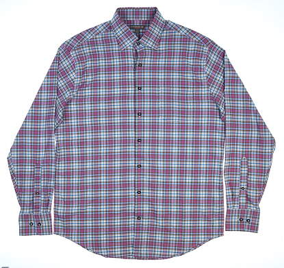 New Mens Peter Millar Button Up Large L Multi MSRP $135 MF17EW63SL