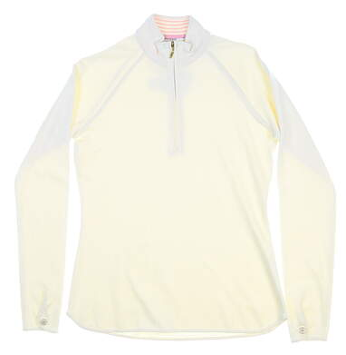 New Womens Bobby Jones 1/2 Zip Pullover Small S Pearl MSRP $90 BWK48813