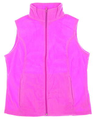 New Womens Columbia Benton Springs Fleece Vest Large L Pink MSRP $50