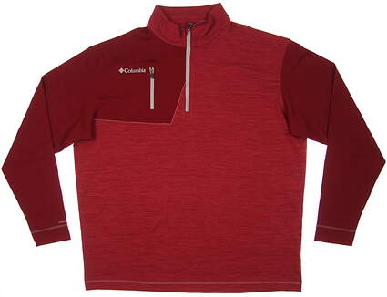 New Mens Columbia Omni-Heat Regulation 1/4 Zip Pullover Medium M Red MSRP $85 17S65ML
