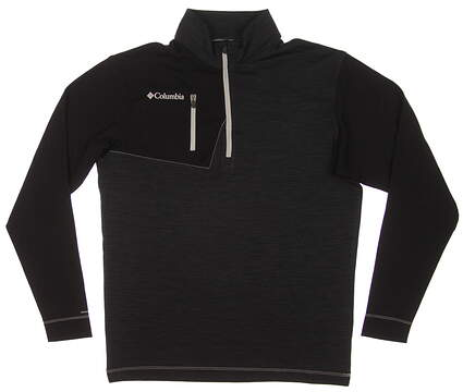 New Mens Columbia Omni Heat Regulation 1/4 Zip Pullover Medium M Black MSRP $85 17S65ML