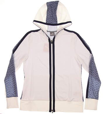 New Womens Puma Golf Hoodie Small S Bright White/ Peacoat MSRP $75 574646 02