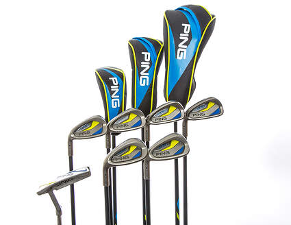 Ping Thrive Complete Golf Club Set Ages 13-14 Stock Graphite Shaft Left Handed Black Dot