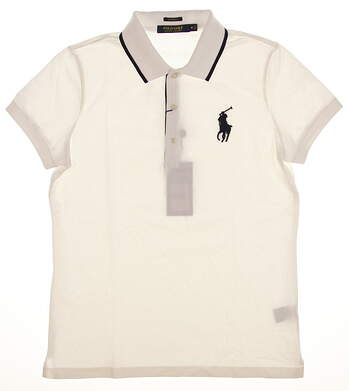 New Womens Ralph Lauren Golf Polo Small S White MSRP $90