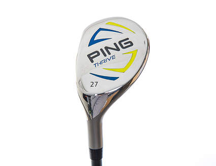 Above Average Ping Thrive Ages 13-14 Hybrid 5 Hybrid 27* Stock Graphite Shaft Left Handed 37.75 in With Headcover