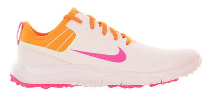 New Womens Golf Shoe Nike FI Impact 2 7 White/Pink MSRP $140 776093 101