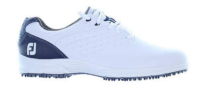 New Mens Golf Shoe Footjoy FJ Arc SL Medium 9.5 White/Blue MSRP $100