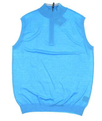 New Mens G-Mac Sleeveless Golf Sweater Large L Aqua MSRP $130 DUNCAN