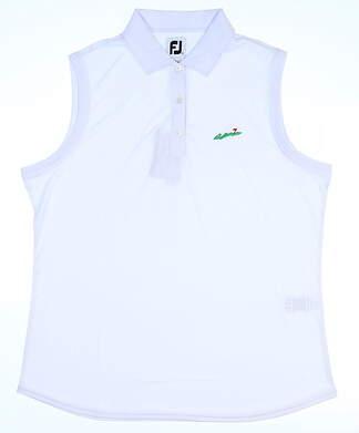 New W/ Logo Womens Footjoy Interlock Sleeveless Polo X-Large XL White MSRP $69 27072