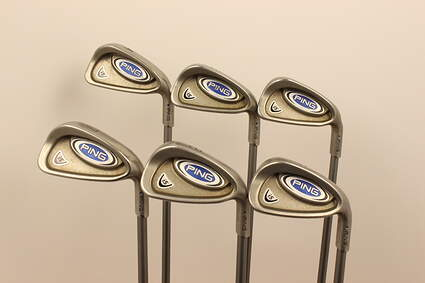Ping i5 Iron Set 4-9 Iron Ping TFC 100I Graphite Regular Right Handed Blue Dot 37.75 in