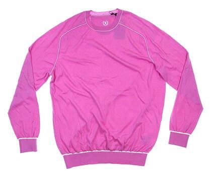 New Mens BUGATCHI Sweater Large L Pink MSRP $199 VH600CN1