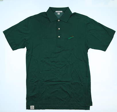 New W/ Logo Mens Peter Millar Golf Polo Small S Green MSRP $89 MC0CK01