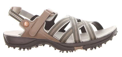 New Womens Golf Shoe Footjoy Golf Specialty Cleated Sandal Medium 9 Gray MSRP $85 48446