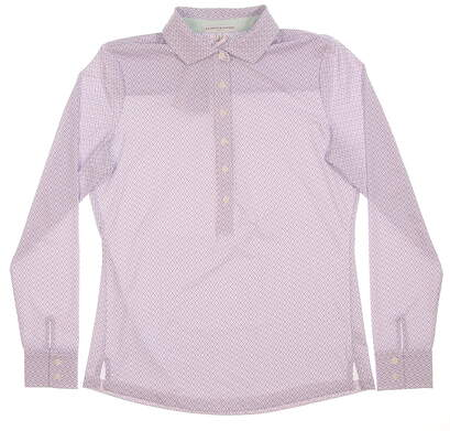 New Womens Fairway & Greene Aryn Long Sleeve Golf Polo Small Serenity MSRP $106 H12227