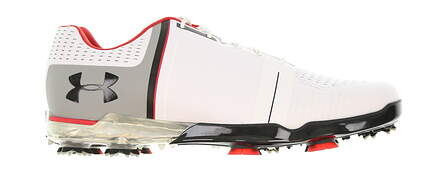 New Mens Golf Shoe Under Armour UA Spieth One 8 White/Black/Red MSRP $200
