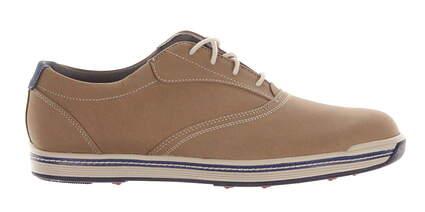 New Mens Golf Shoe Footjoy Contour Casual Medium 9 Taupe MSRP $140