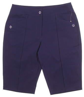 New Womens EP Pro Rittenhouse Golf Shorts Size 14 Cadet MSRP $85 8610KA