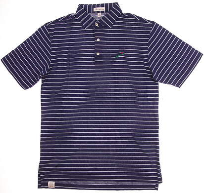 New W/ Logo Mens Peter Millar Golf Polo Small S Blue MSRP $98 MS17K51S