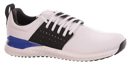 New Mens Golf Shoe Adidas Adicross Bounce Medium 10 White/Black MSRP $120 F33752