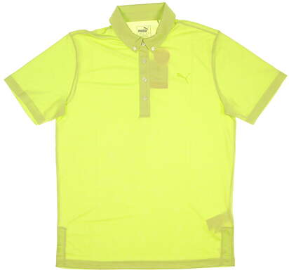 New Mens Puma Oxford Heather Polo X-Large XL Acid Lime Heather MSRP $60
