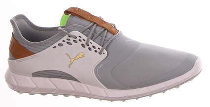 New Mens Golf Shoe Puma IGNITE PWRSPORT Medium 11 Quarry-Gold-White MSRP $120