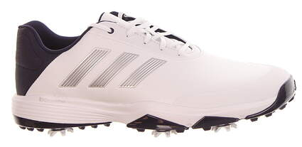 New Mens Golf Shoe Adidas Adipower Bounce Medium 11 White/Silver/Noble Ink MSRP $100