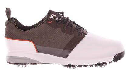 New Mens Golf Shoe Footjoy ContourFIT Medium 8 White/Brown MSRP $100