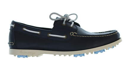 New Mens Golf Shoe Canoos Preston Navy Loafer MSRP $190