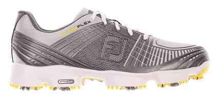 New Mens Golf Shoe Footjoy Hyperflex II Medium 13 White/Grey MSRP $160