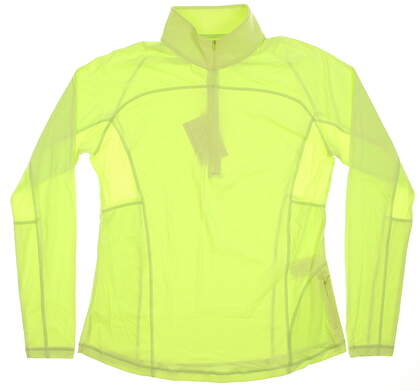 New Womens Footjoy 1/2 Zip Sun Protection Pullover X-Small XS Lime MSRP $85