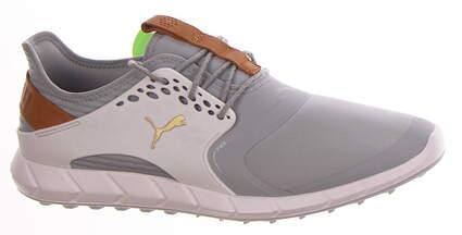New Mens Golf Shoe Puma IGNITE PWRSPORT Medium 9 Quarry Gold/White MSRP $120