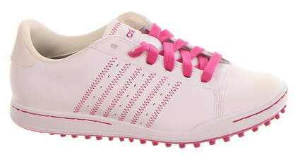 New Girls Golf Shoe Adidas Adicross Jr Medium 3.5 White/Pink MSRP $140