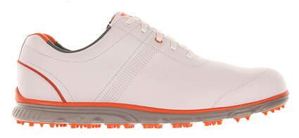 New Mens Golf Shoe Footjoy DryJoys Casual Medium 10 White/Orange MSRP $250