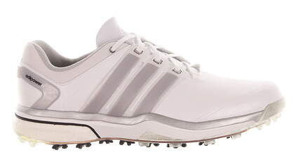 New Mens Golf Shoe Adidas Adipower Boost Medium 7.5 White MSRP $240