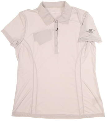 New W/ Logo Womens SUNICE Jacqueline Coolite Golf Polo Large L Oyster MSRP $60 831515