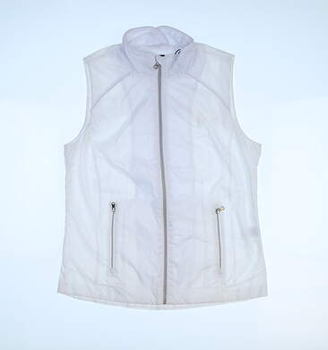 New Womens Ralph Lauren Vest Small S White MSRP $100