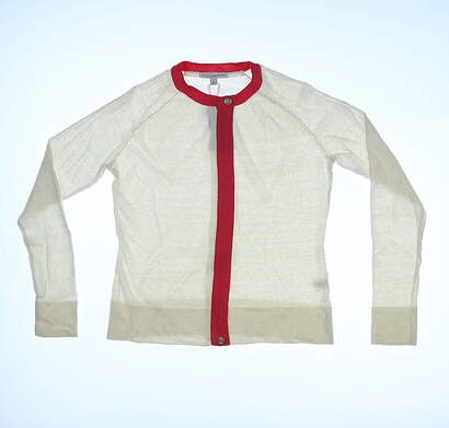 New Womens Fairway & Greene Ladies Blanche Sweater Small S White MSRP $100