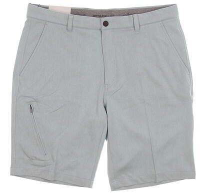New Mens Greg Norman Heathered Scorecard Pocket Shorts Size 34 Blue Haze MSRP $70