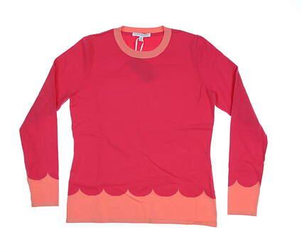 New Womens Fairway & Greene Dixie Sweater Medium M Strawberry Punch MSRP $100
