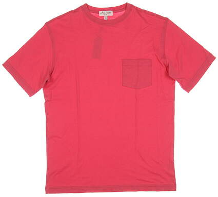 New Mens Peter Millar T-Shirt Small S Red MSRP $40 MS18K67