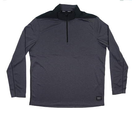 New Mens Nike 1/4 Zip Pullover Large L Charcoal/Black MSRP $65