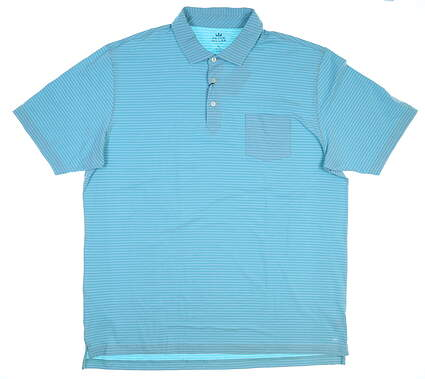 New Mens Peter Millar Seaside Wash Polo X-Large XL Green MSRP $95 MF18K73P