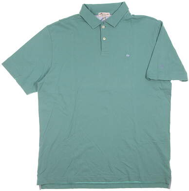 New W/ Logo Mens Peter Millar Golf Polo Large L Fish Trap MSRP $85 MS18K61