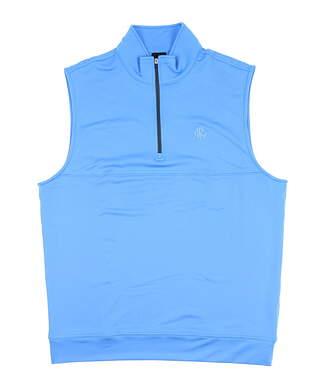 New W/ Logo Mens Dunning Golf Vest Medium M Blue MSRP $90 D7S13V647